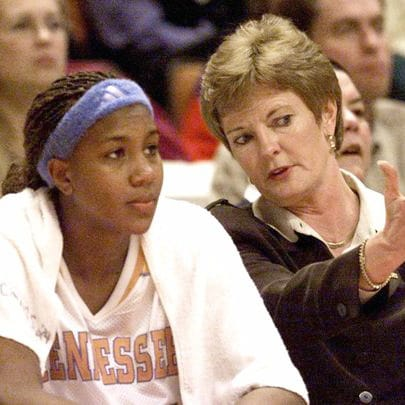 Tamika Catchings & Pat Summitt