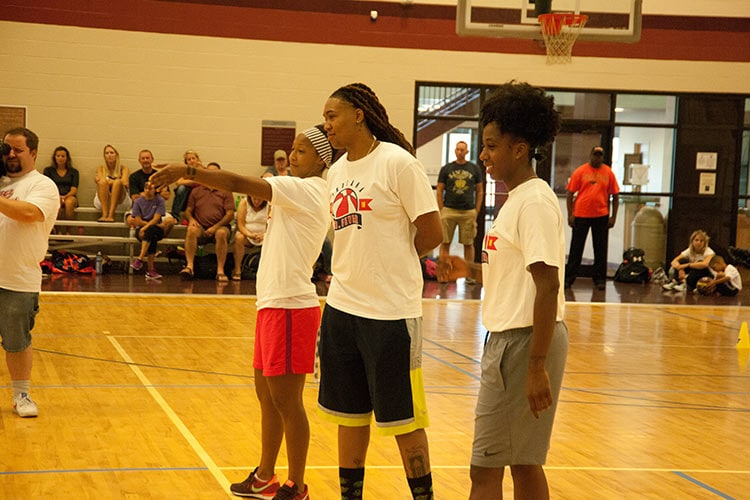 Briann January, Erlana Larkins and Shenise Johnson