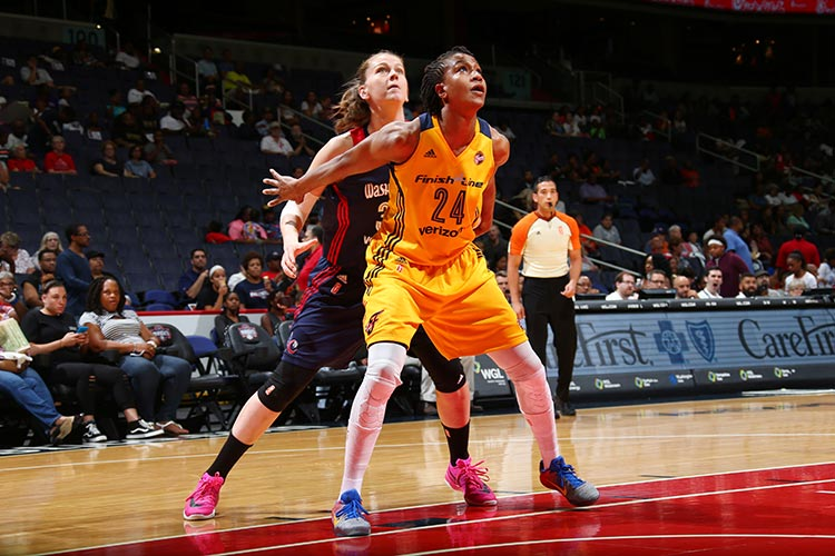 Tamika Catchings and Emma Meesseman