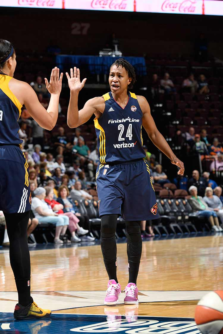 Tamika Catchings and Natalie Achonwa