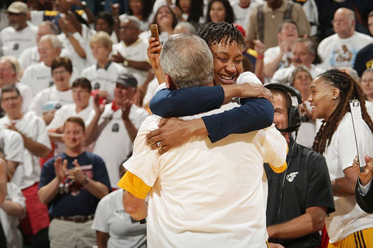 Tamika Catchings and Rick Fuson