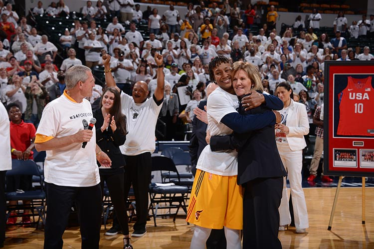 Tamika Catchings and Kelly Krauskopf