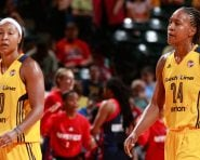 Tamika Catchings and Briann January