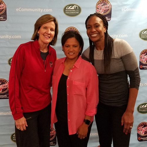 Tamika Catchings, Kelly Krauskopf, Pokey Chatman