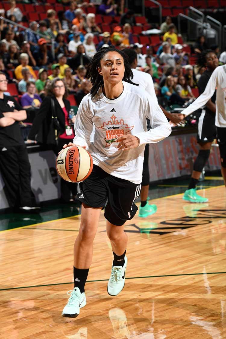 Candice Dupree at WNBA All-Star