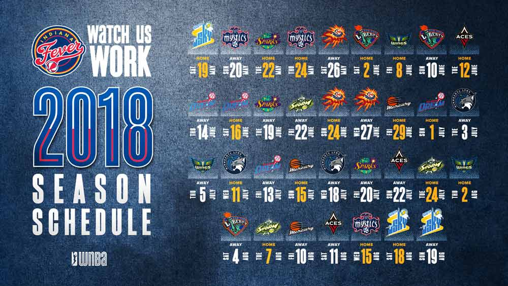 2018 Indiana Fever Schedule