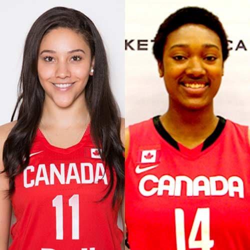 Natalie Achonwa and Kayla Alexander