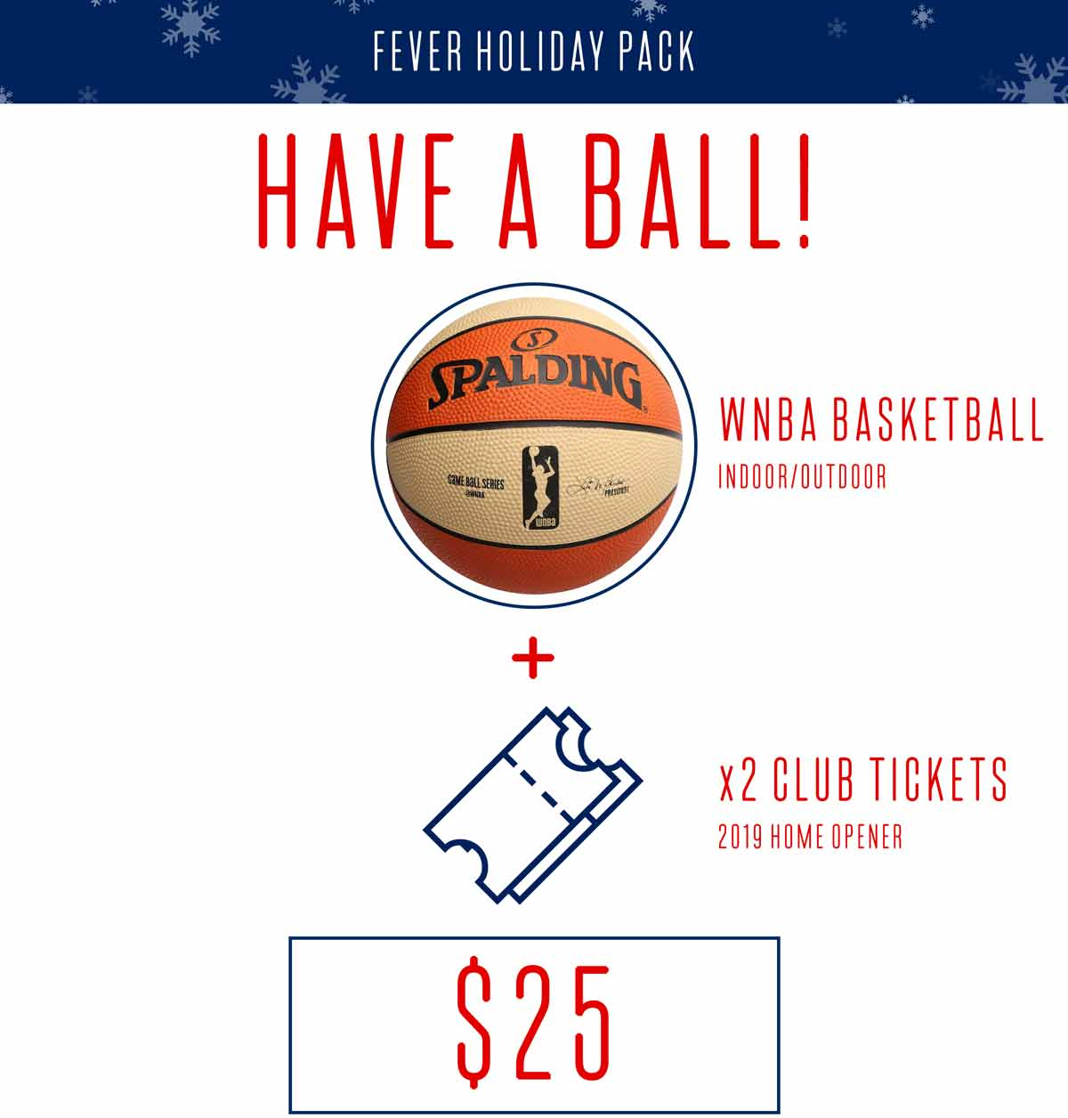 Have a Ball! WNBA Basketball plus Two Club Tickets for $25