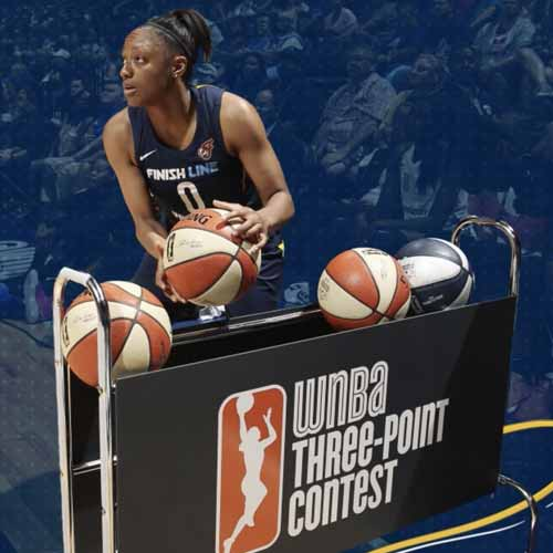 Best Of 2018: #8 - Kelsey Mitchell Competes in 3-Point Contest at WNBA All-Star