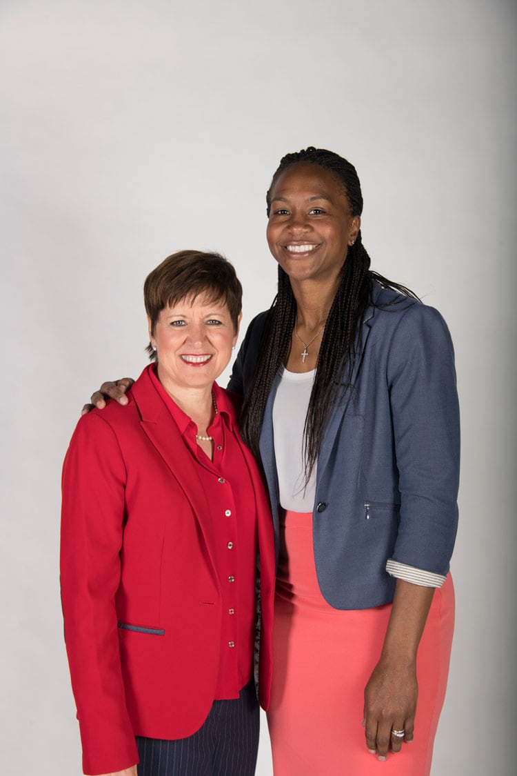 Dr. Alison Barber and Tamika Catchings