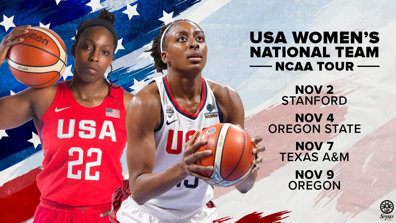 USA Women's Basketball NCAA Tour Schedule