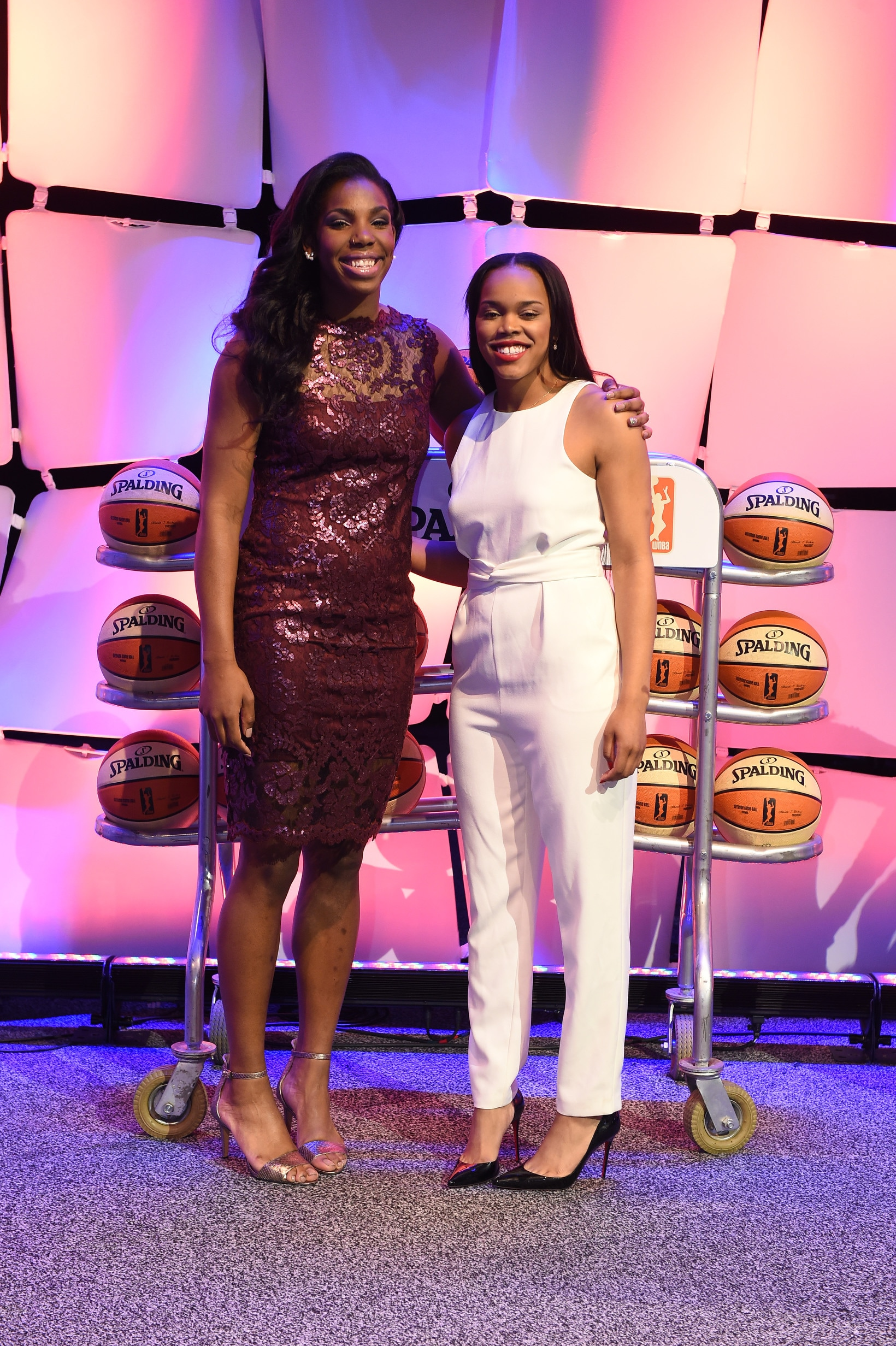 UNCASVILLE, CT - APRIL 16:  Reshanda Gray and Brittany Boyd pose for a photo during the 2015 WNBA Draft Presented By State Farm on April 16, 2015 at Mohegan Sun Arena in Uncasville, Connecticut.  NOTE TO USER: User expressly acknowledges and agrees that, by downloading and/or using this Photograph, user is consenting to the terms and conditions of the Getty Images License Agreement. Mandatory Copyright Notice: Copyright 2015 NBAE  (Photo by Brian Babineau/NBAE via Getty Images)
