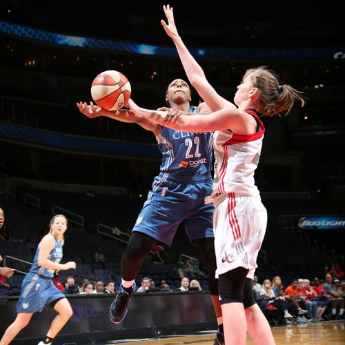 Lynx guard Monica Wright played just nine minutes against the Mystics and finished with two points and two rebounds.