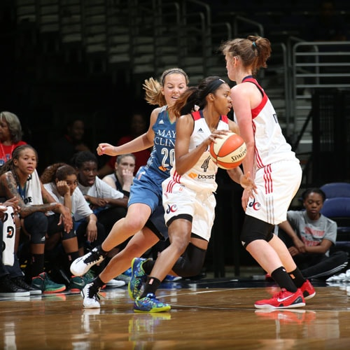 Washington Mystics forward Tayler Hill had a game-high 18 points in 28 minutes off the bench to lead the Mystics.