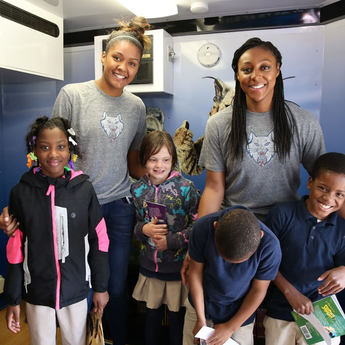 On May 19th, Monica Wright and Damiris Dantas of the hosted a Reading Time-Out for third grade students on May 19, 2015 at Jenny Lind Elementary School in Minneapolis. It was the first 'Lynx Cares' event which is a part of the 'WNBA Cares' initiative. Check out some of the top photos from the afternoon.