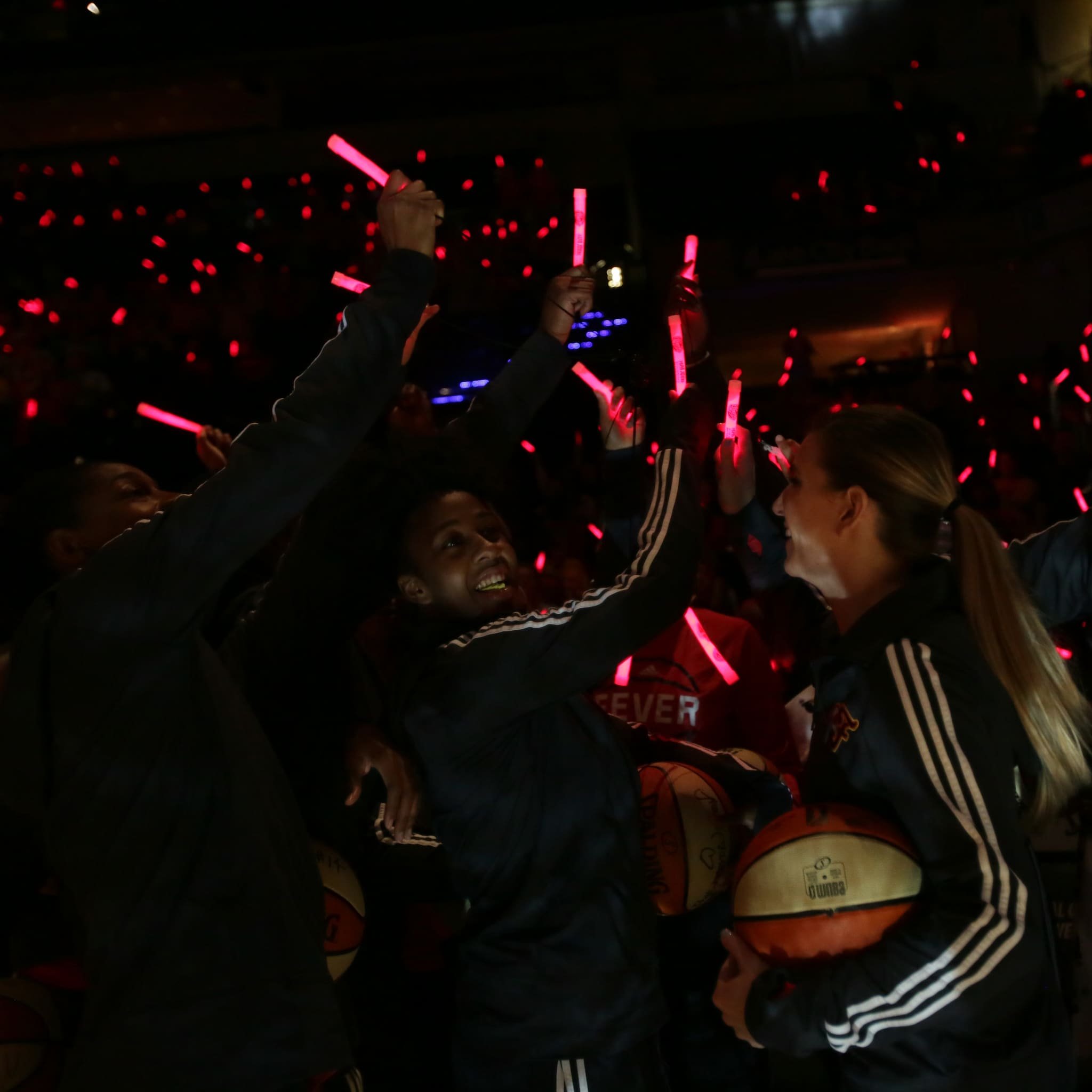 The Indiana Fever and their fans attempted to set a world record for most glow-sticks lit at the same time on Saturday night.