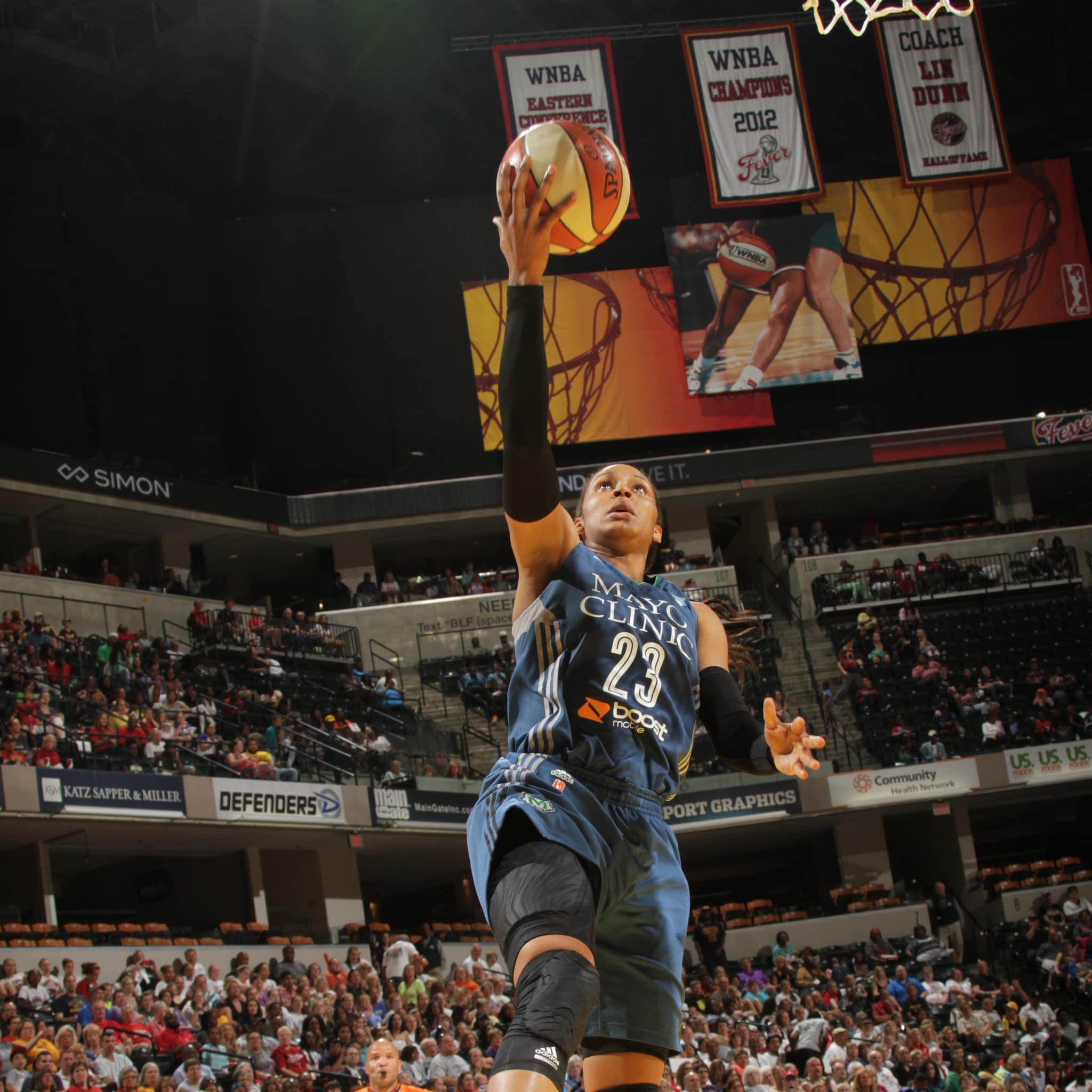 Lynx forward Maya Moore had a solid all-around game against the Fever, scoring 16 points to go with 10 rebounds, three assists and three steals.
