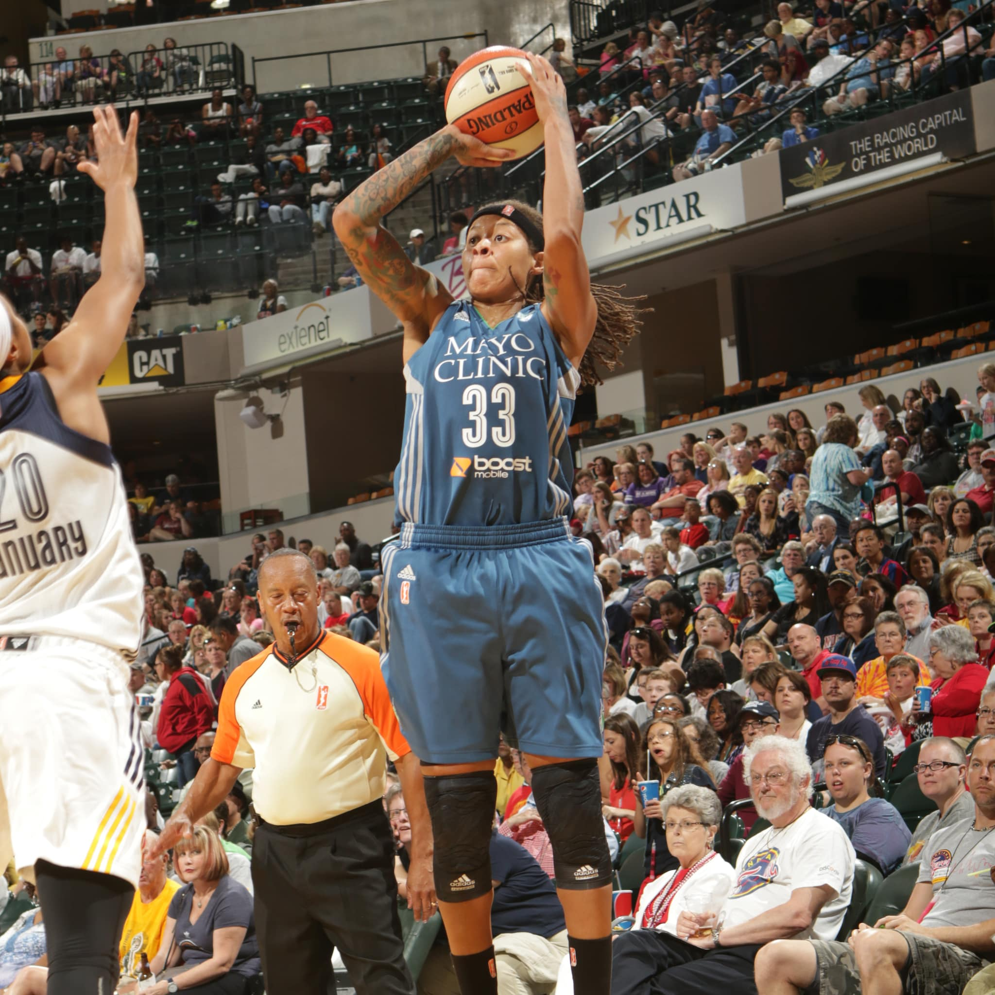 Lynx guard Seimone Augustus scored 11 points and grabbed three rebounds in the Lynx victory.