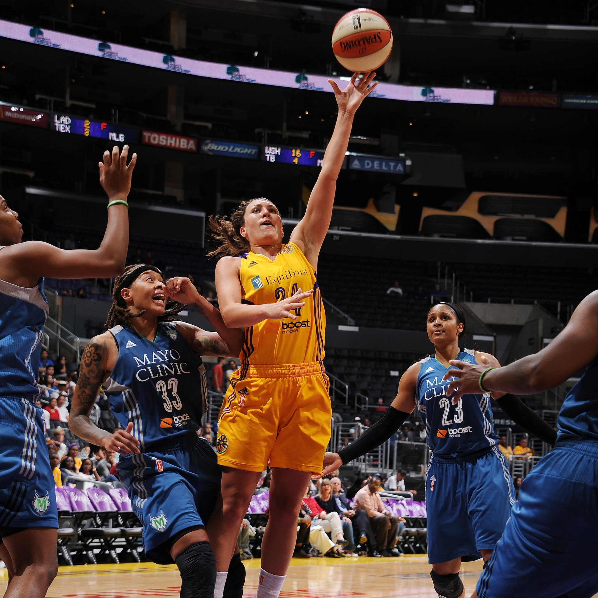 Sparks center Andrea Hoover came off the bench to score six points in 21 minutes.