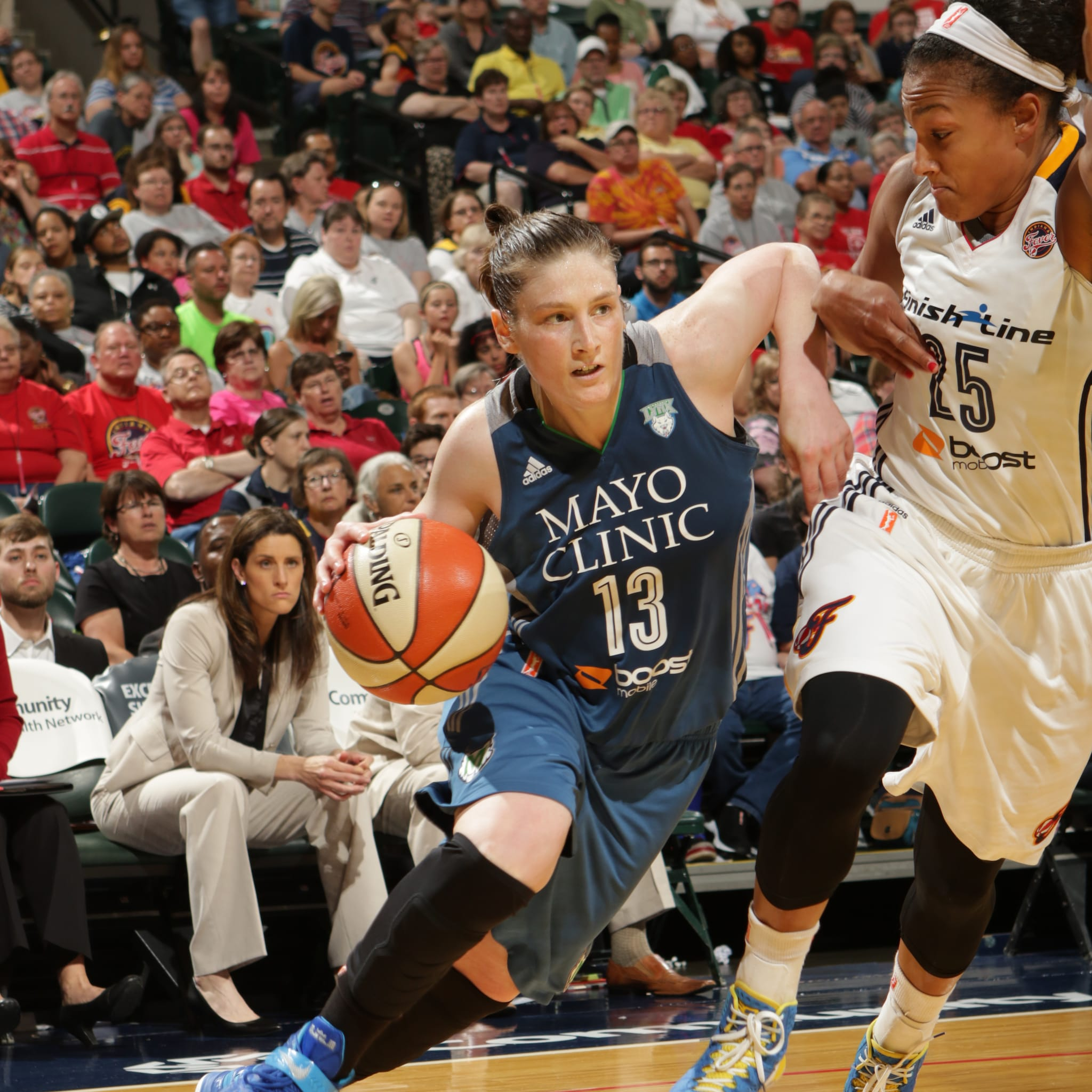 Lynx guard Lindsay Whalen had another great game against the Fever, scoring 17 points to go with her four rebounds and five assists.