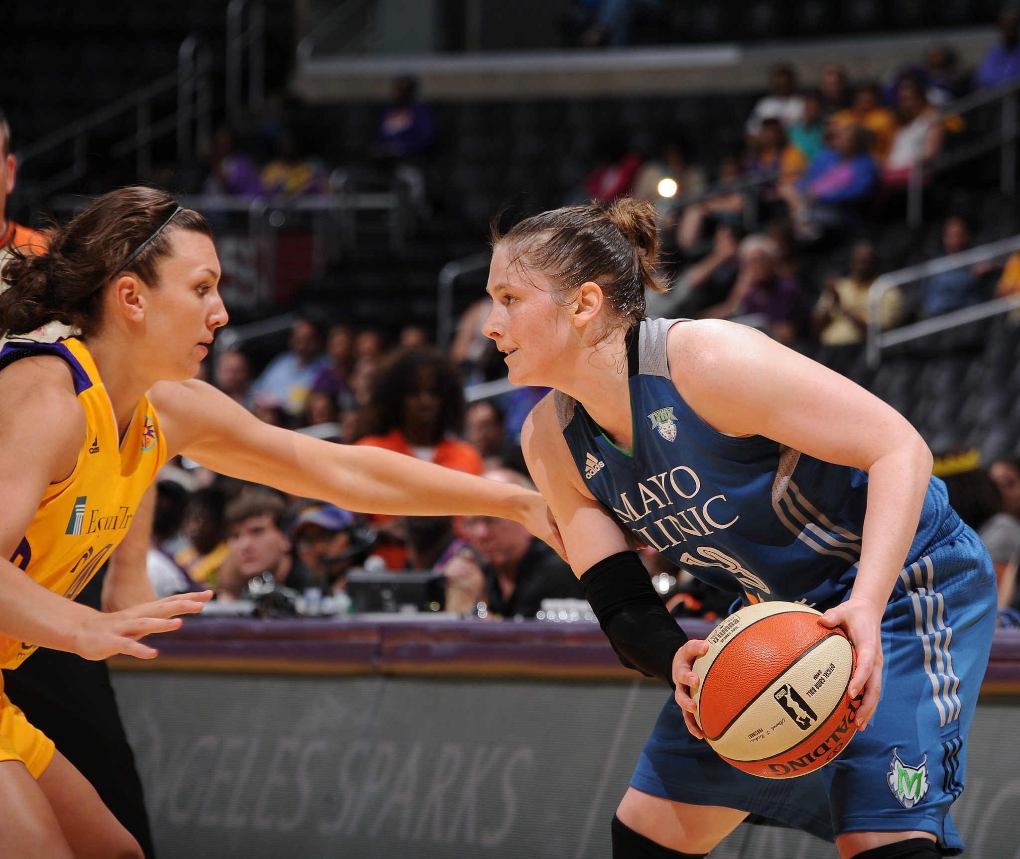 Lynx guard Lindsay Whalen played a game-high 36 minutes, scoring eight points, grabbing  four rebounds and dishing seven assists.