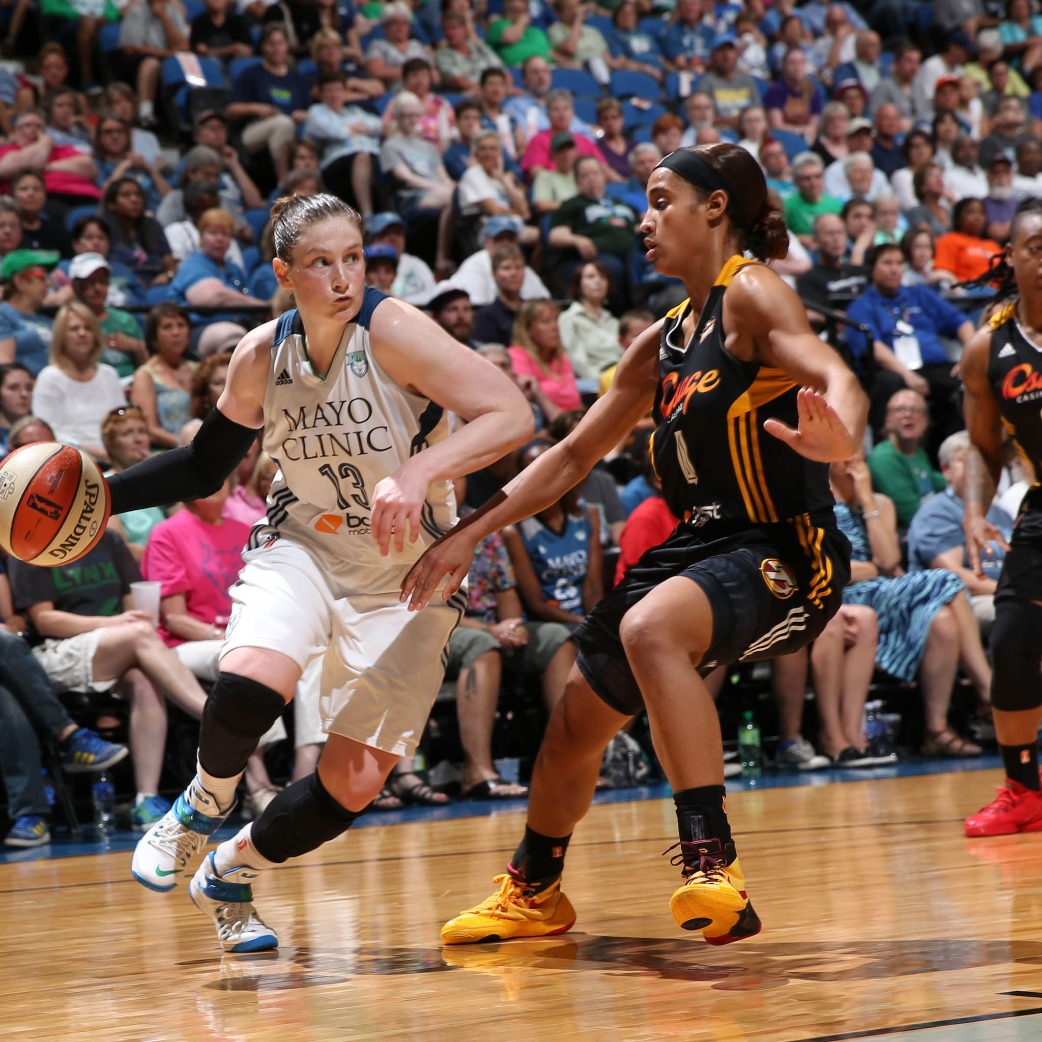Lynx guard Lindsay Whalen struggled against the Shock, scoring just seven points on 3-of-7 shooting while committing four turnovers.