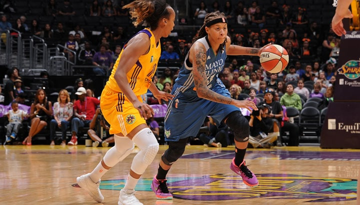 In the first meeting between the Minnesota Lynx and the Los Angeles Sparks this season, guard Seimone Augustus helped to lead the way, pouring in 20 points while adding three rebounds and four assists in Minnesota's 67-52 victory.