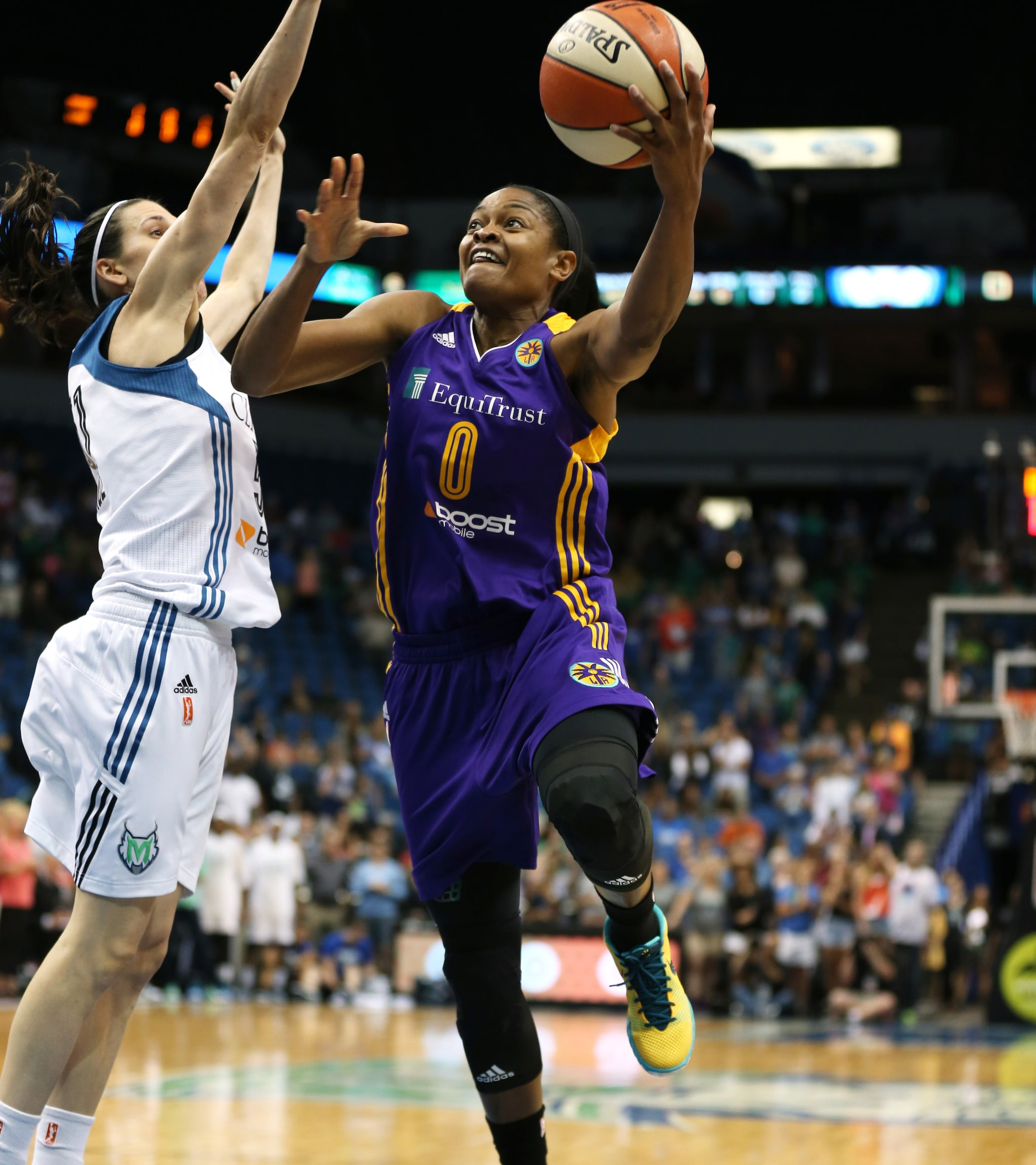 Sparks guard Alana Beard, playing in her first game back since suffering an ankle injury just two games into the season, finished with eight points on 4-of-6 shooting (66 percent) in 20 minutes of play.