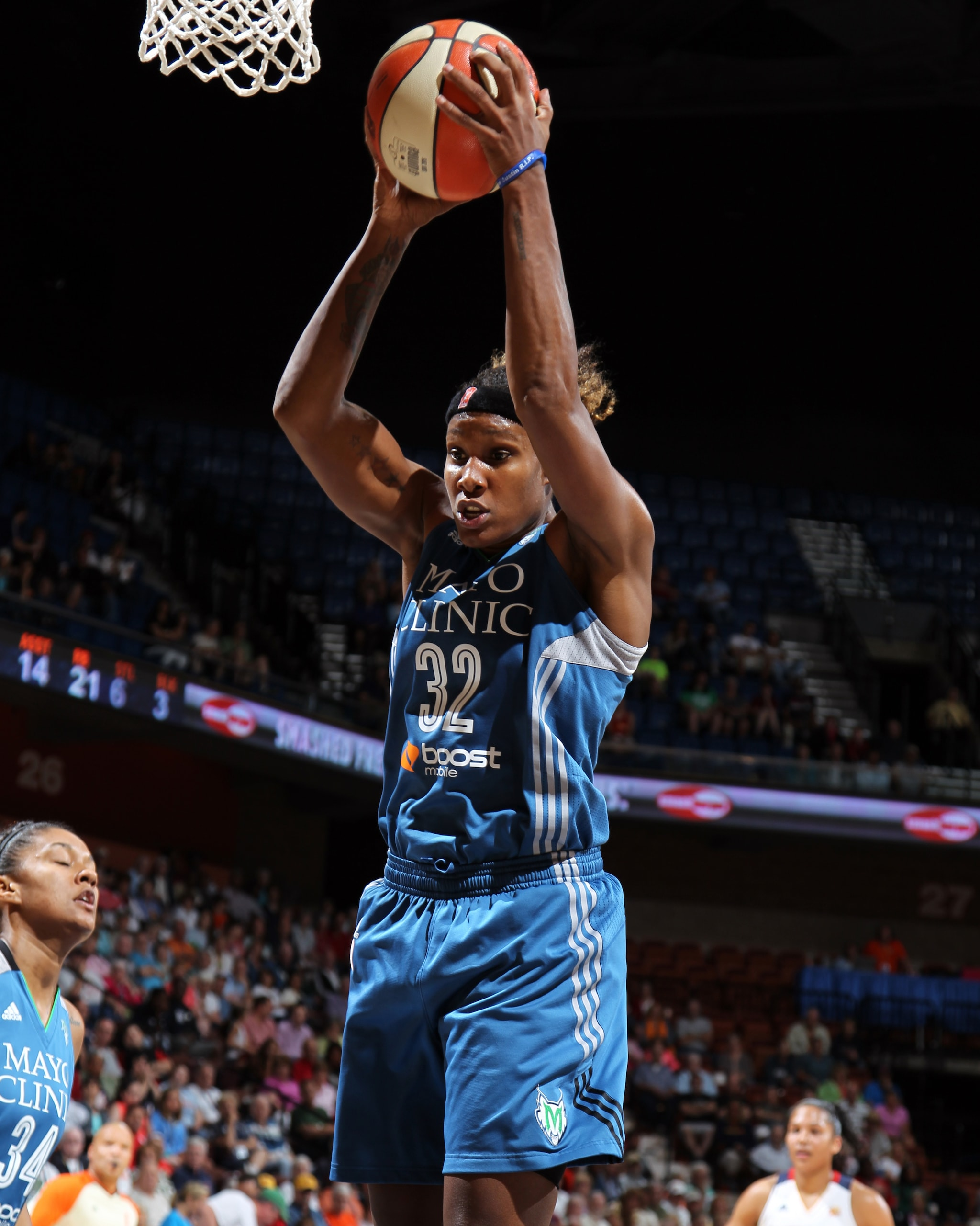 Another stellar dfensive effort by Lynx forward Rebekkah Brunson slowed Connecticut's high-scoring offense but Brunson contributed in all aspects, finishing with 12 points, six rebounds, three assists  and five steals.