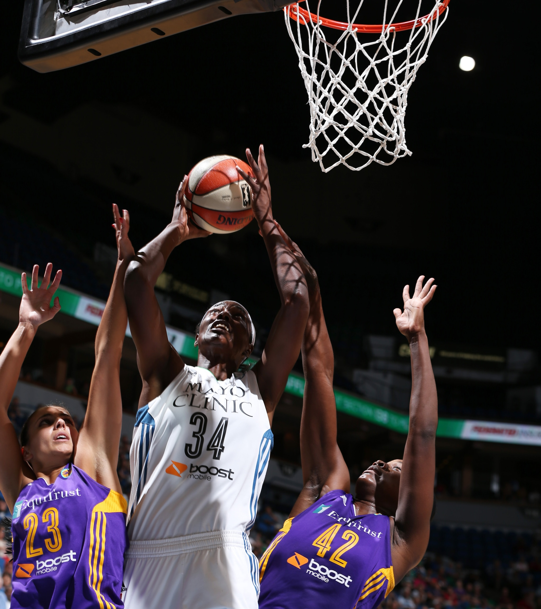 Center Sylvia Fowles, making her first Lynx appearance after a trade with Chicago brought her to Minnesota, had a solid debut, finishing with 11 points, five rebounds and three steals in 26 minutes of play.