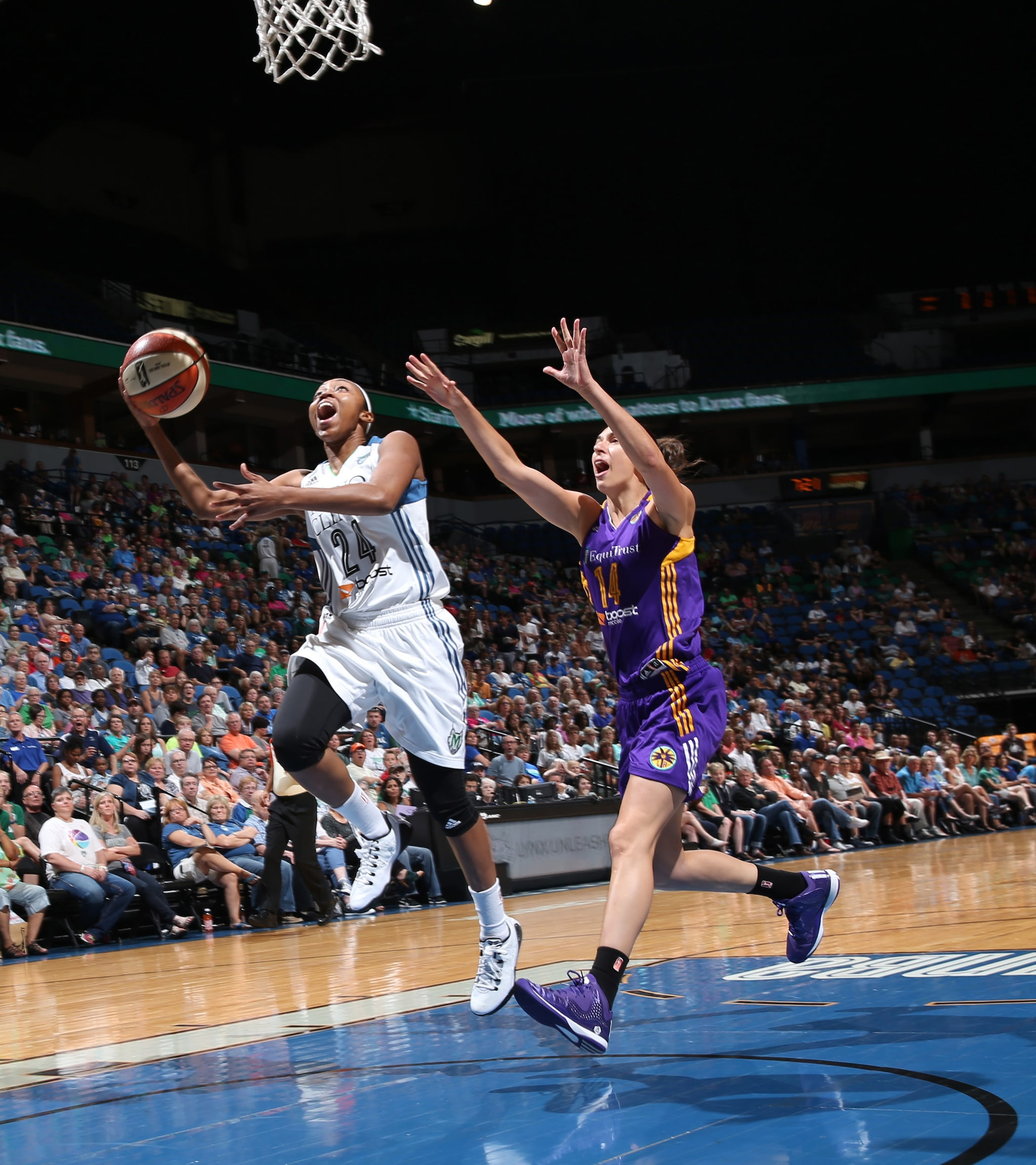 Lynx guard Renee Montgomery had a rather quiet game off the bench, making her only shot and finishing with just two points. She did however have a huge play defensively, taking a charge late in the fourth quarter to help seal a Lynx victory.