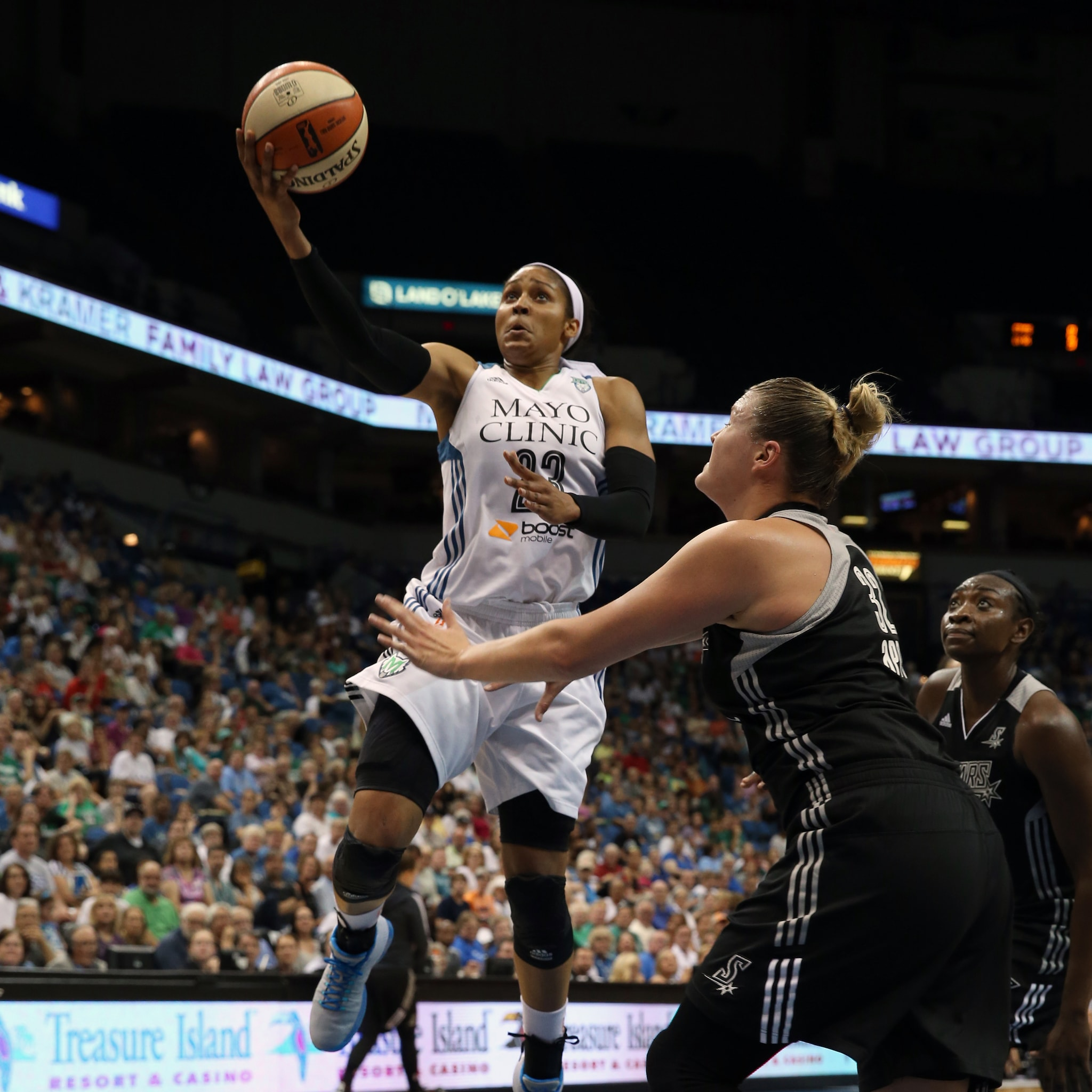 Lynx forward Maya Moore led the way yet again, scoring 20 points while adding nine rebounds and three assists. It was the fourth straight game that Moore has scored 20+ points and her sixth of the season.