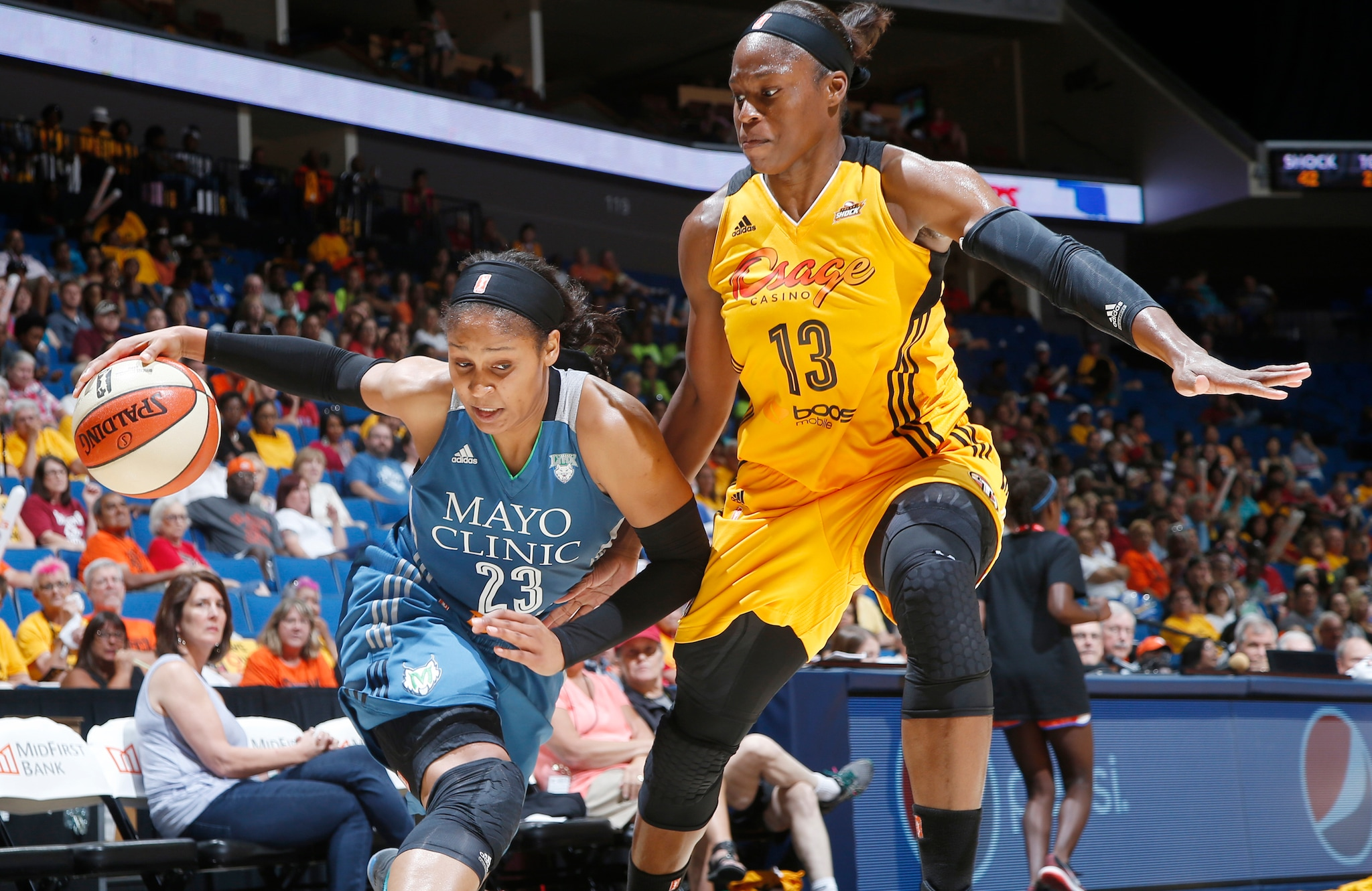 Despite being down seven points at the half,  Lynx forward Maya Moore scored 30 points in the second half to lead Minnesota to a 79-72 victory over the Tulsa Shock.