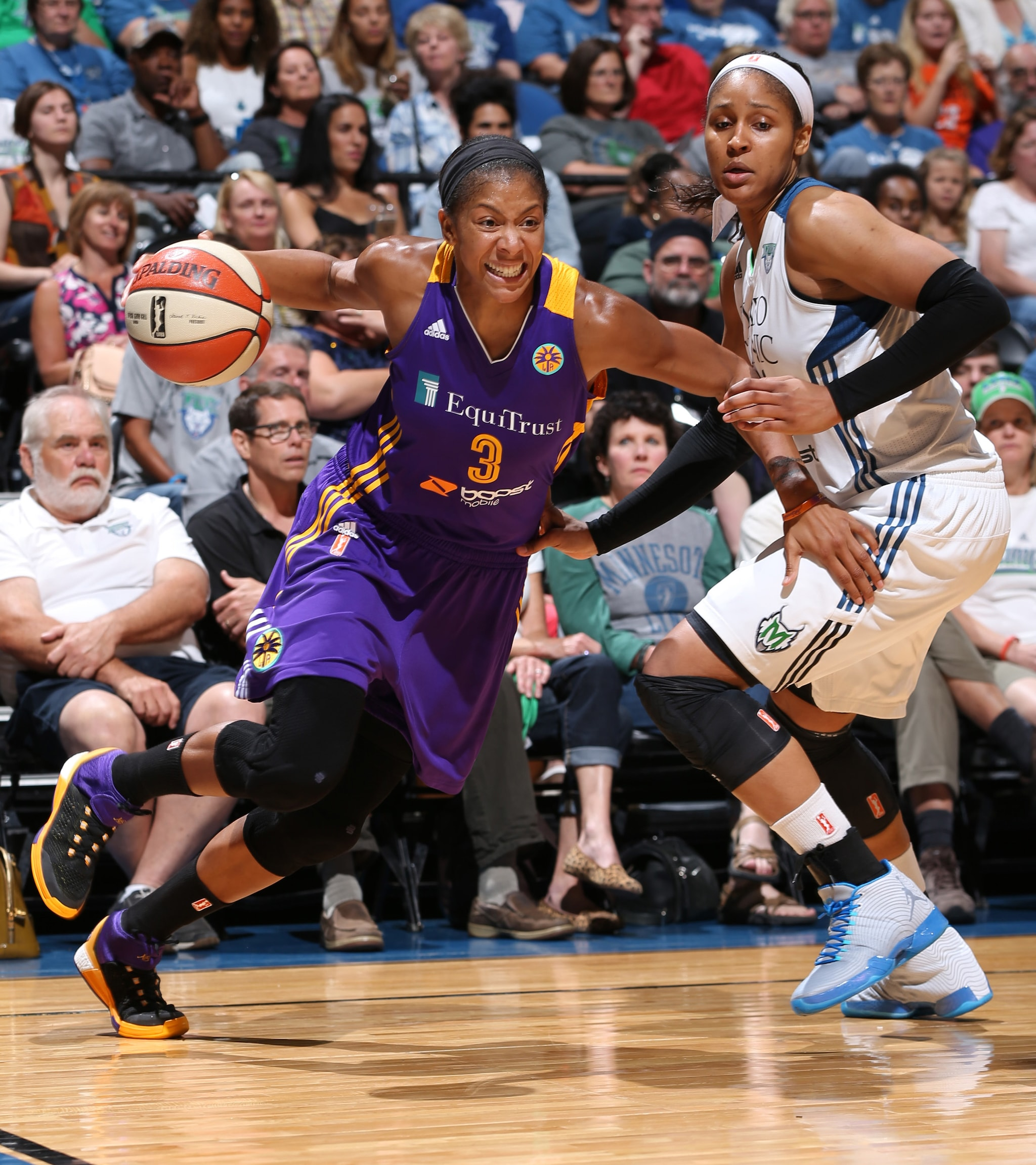 Sparks forward Candace Parker made her season deubt after sitting out the first half of the season to rest. Parker played well, finishing just shy of a triple-double: 12 points, seven rebounds and nine assists.