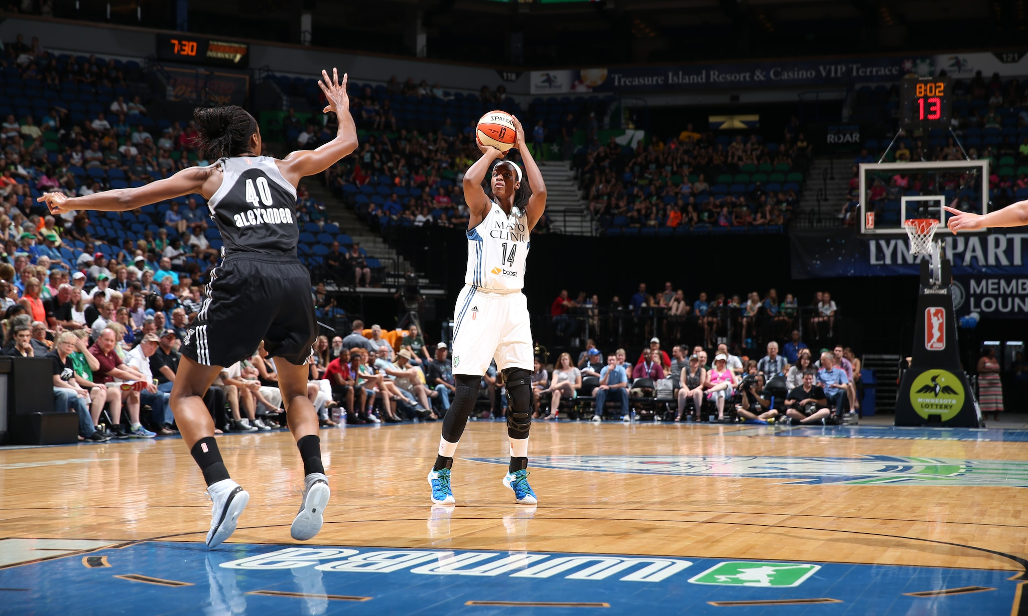Lynx forward Devereaux Peters was solid once again off the bench. Peters finished with five points, six rebounds and three blocked shots to help fuel the Lynx to a victory.