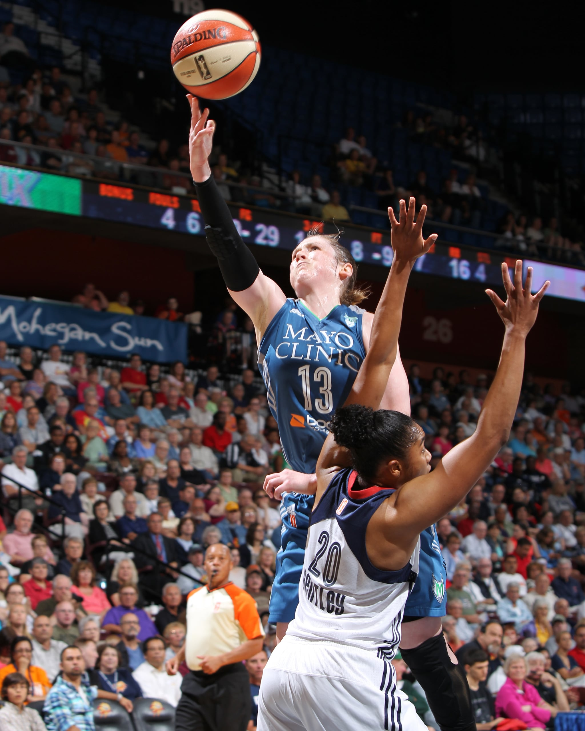 Lynx guard Lindsay Whalen steadied the team and commanded the offense, finishing with nine points, six rebounds and two steals.