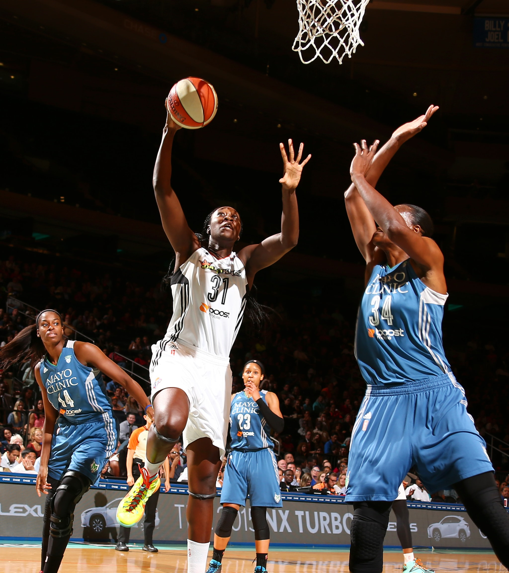 Two of the best centers in the game faced off in a huge playoff-esque game Friday night in New York. Liberty center Tina Charles got her team the win, finishing with 18 points, 11 rebounds and two steals. Lynx center Sylvia Fowles had a great game for her team as well though, finishing with 18 points, 10 rebounds and two blocked shots.