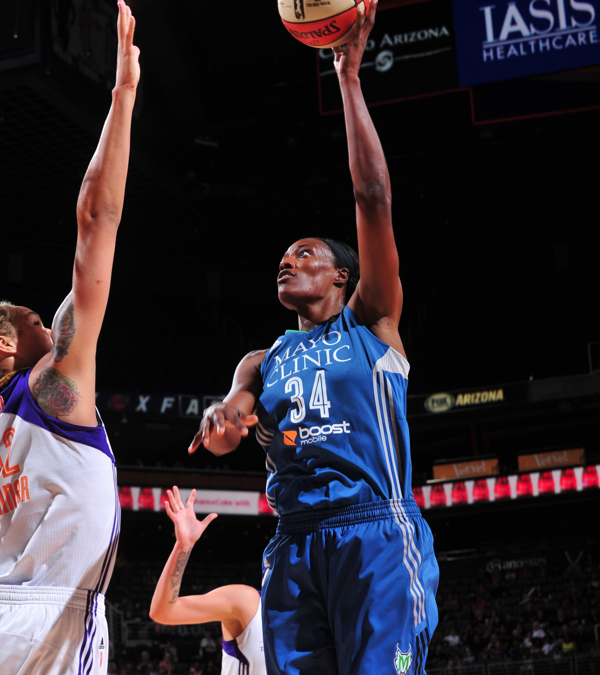 Facing off against one of the best centers in the WNBA in Brittney Griner, Lynx center Sylvia Fowles finished with a double-double, notching  16 points, 12 rebounds and two blocked shots.