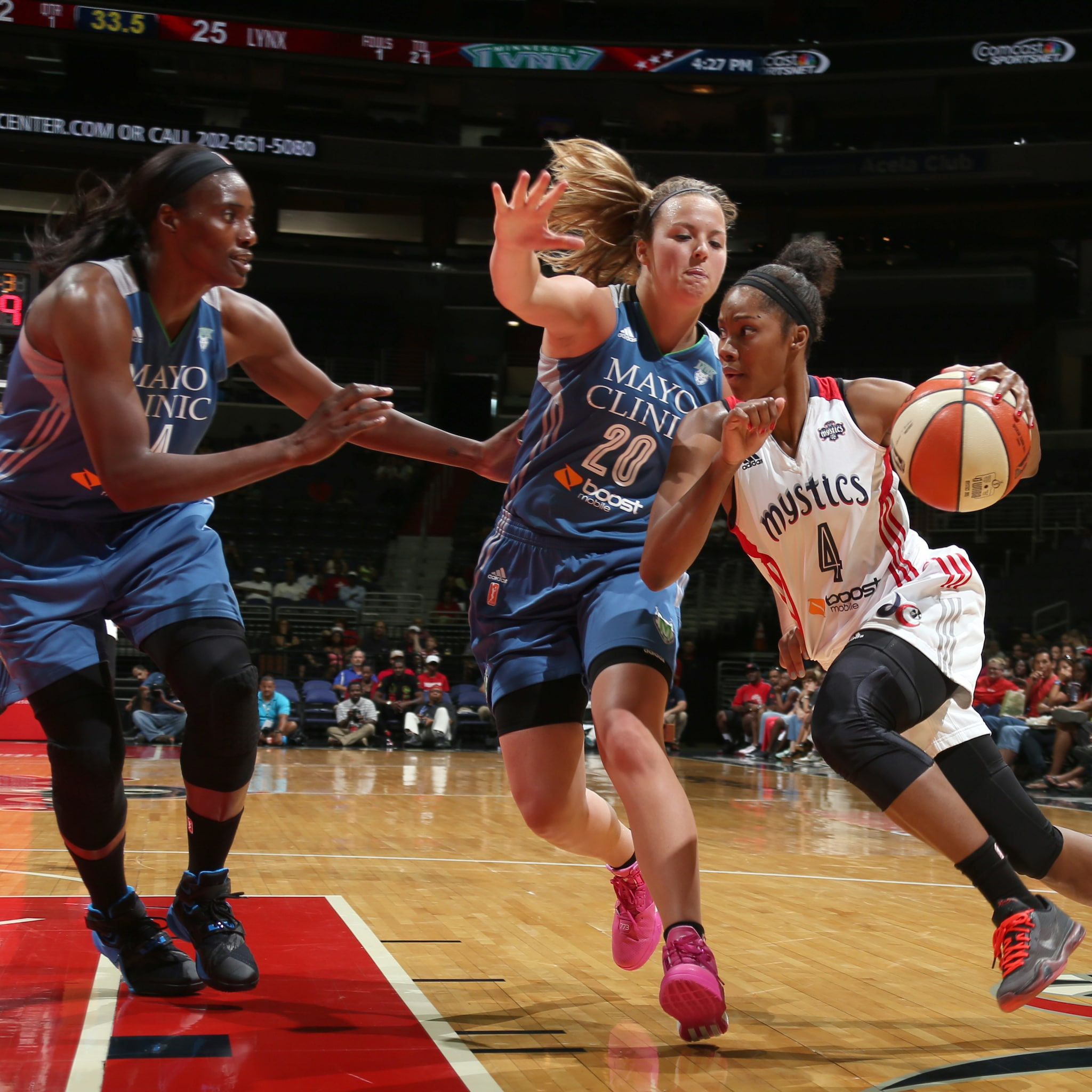 Mystics guard Tayler Hill struggled off the bench for Washington, scoring just five points on 1-of-7 (14 percent) shooting.