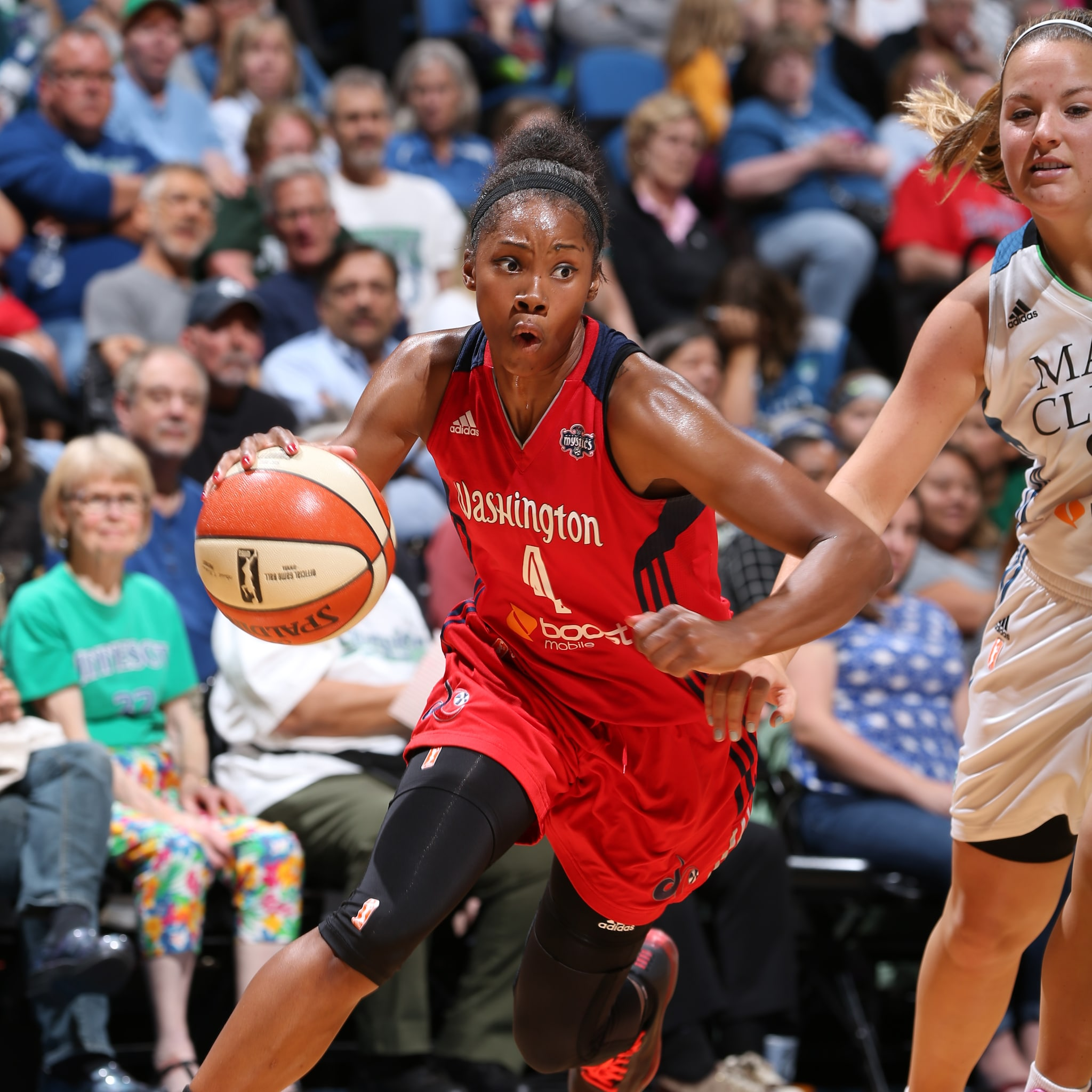 Minnesota native Tayler Hill  played well for the Mystics, finishing with 10 points and three rebounds in 21 minutes off the bench.