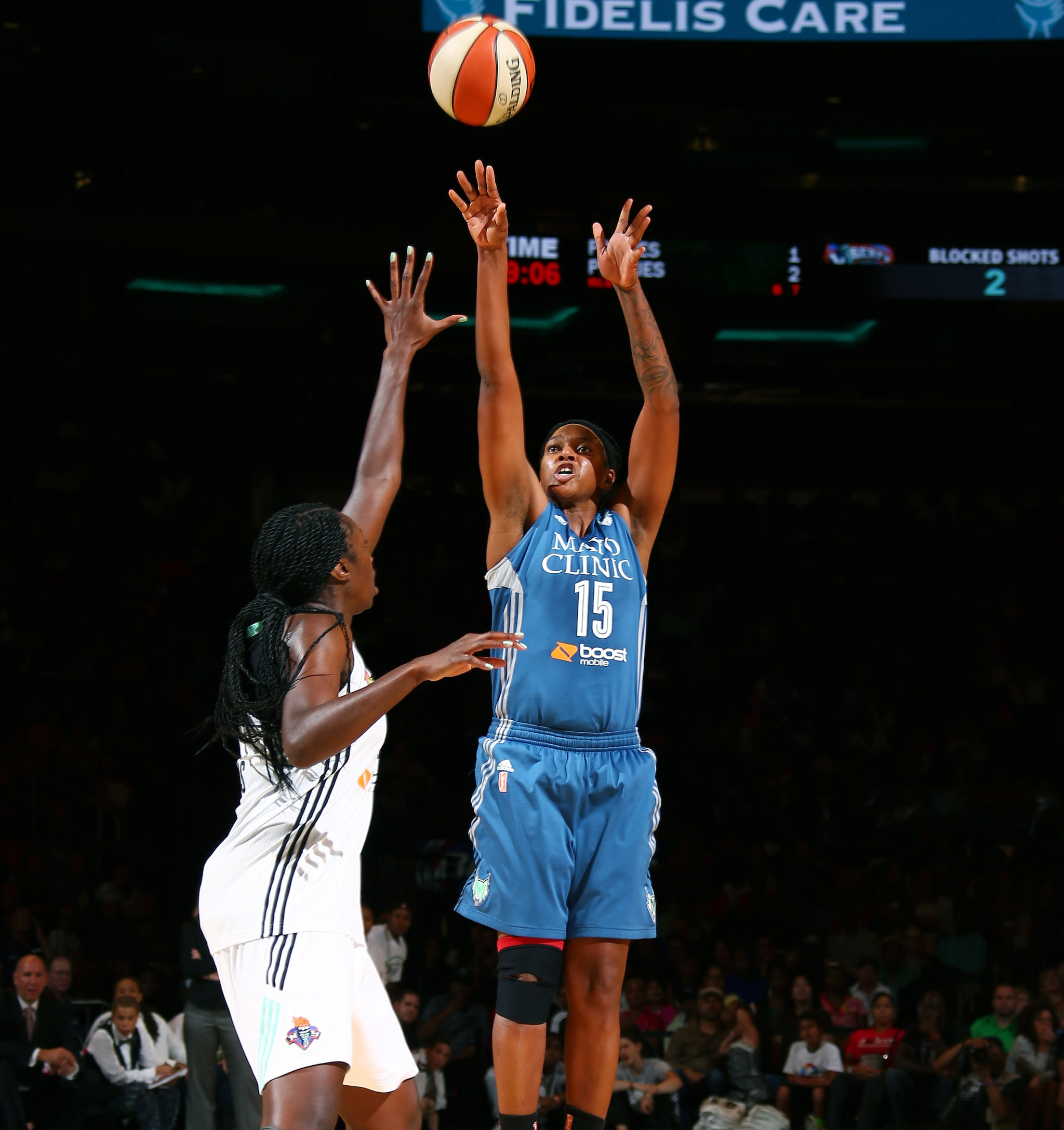 Lynx forward Asjha Jones played big minutes off the bench for Minnesota, playing 21 minutes and finishing with seven points, two rebounds and two assists in Minnesota's 81-68 loss to the New York Liberty.