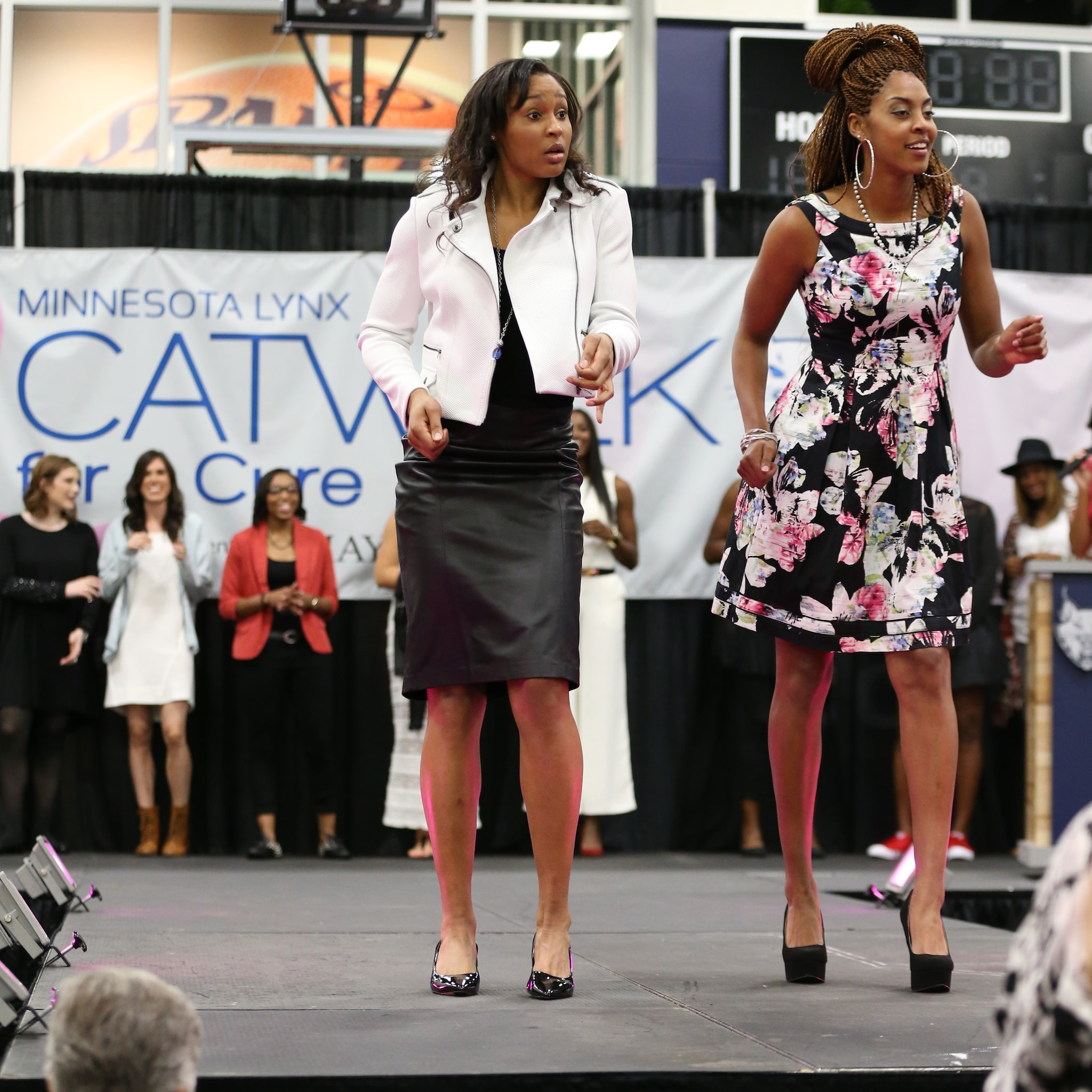 Lynx forwards Maya Moore and Shae Kelley