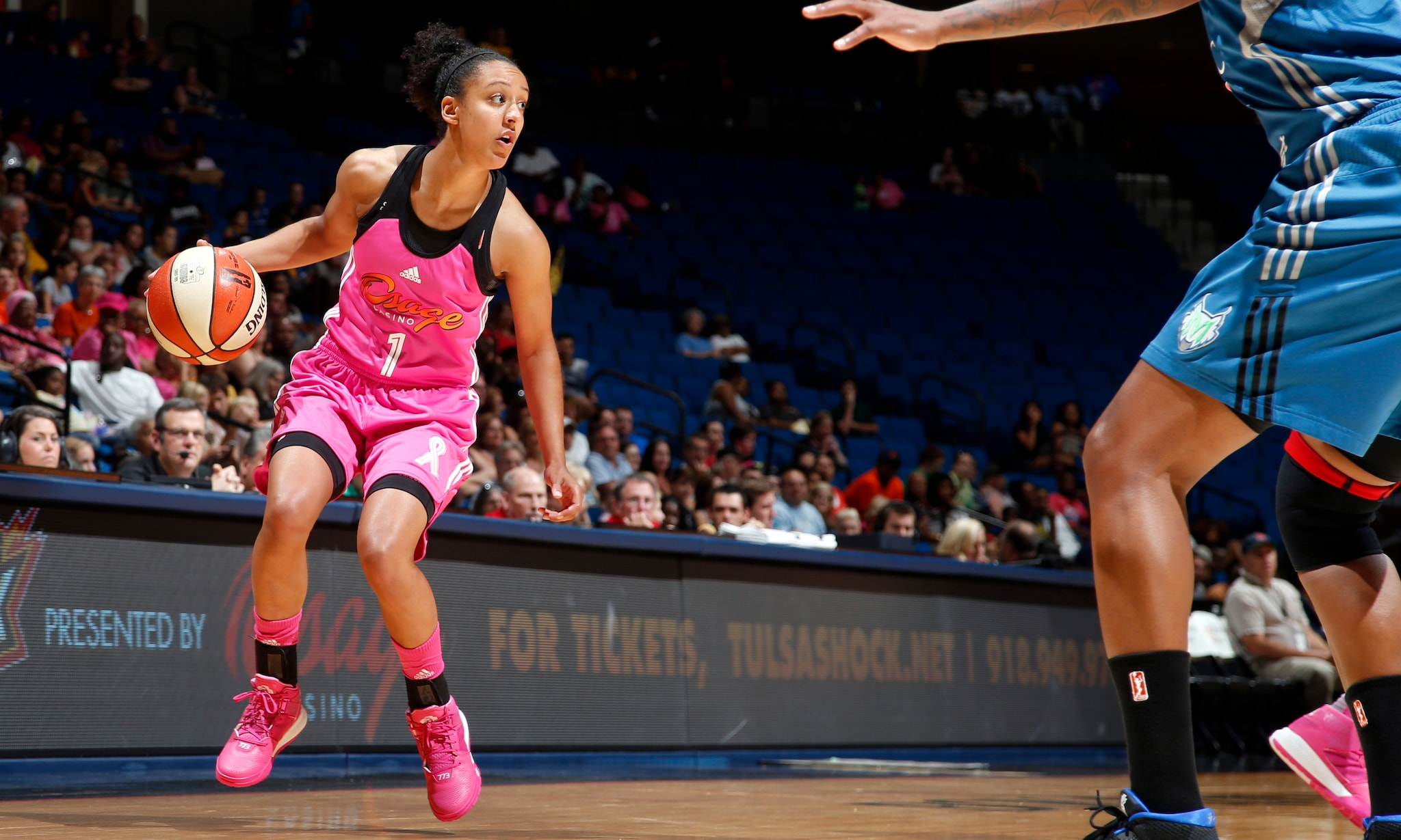 Shock forward Brianna Kiesel was held scoreless in just six minutes of playing time in the Shock's 86-80 loss to the Lynx.
