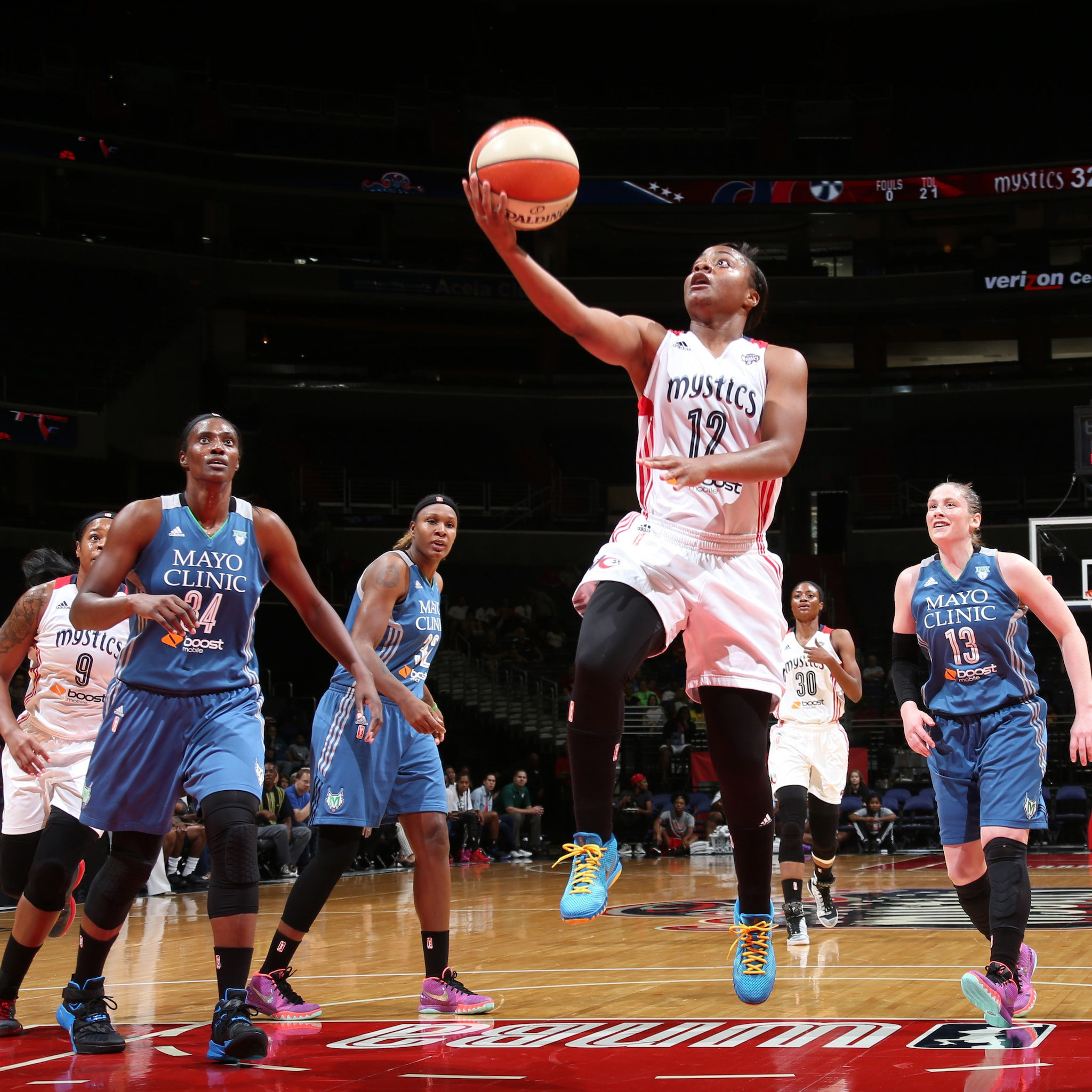 Guard Ivory Latta had a game-high 20 points for the Mystics. Latta also added three points, two assists and two steals off the bench for Washington.