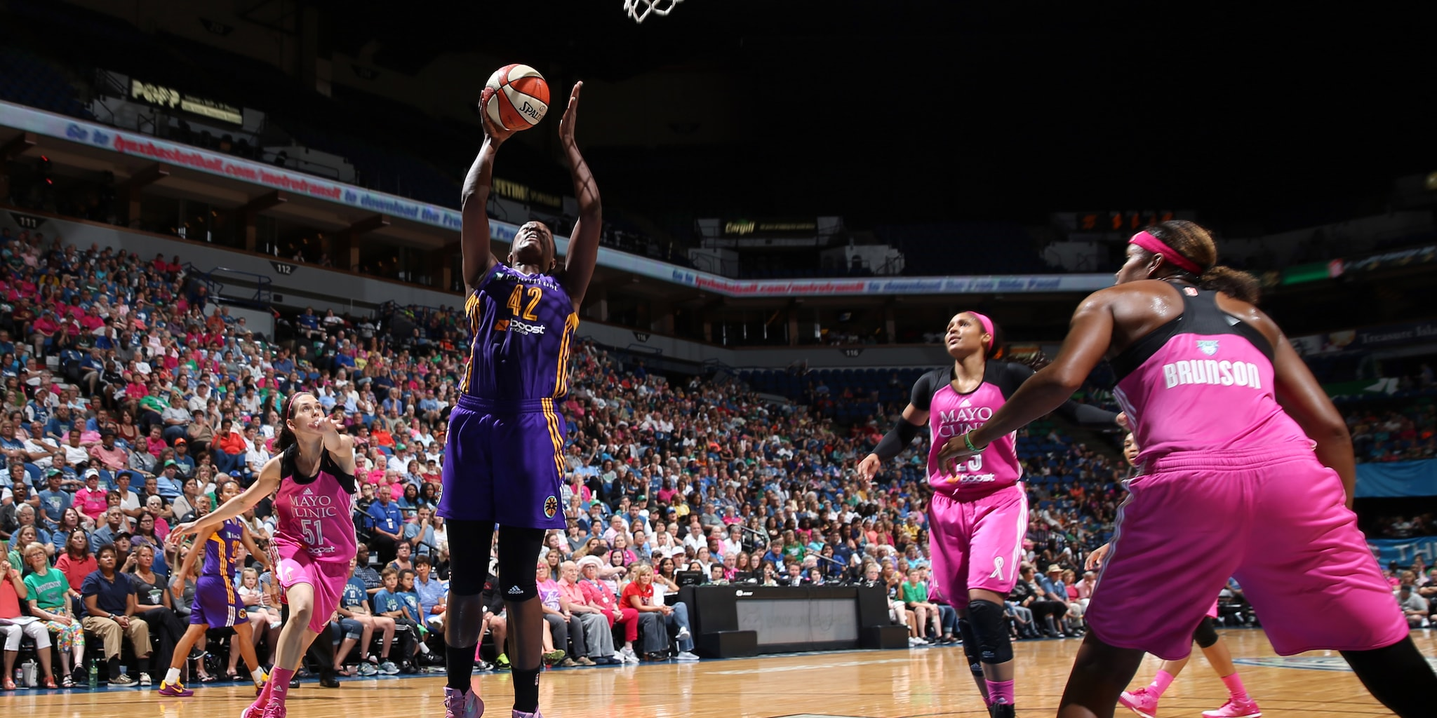 Sparks center Jantel Lavender has given the Lynx fits all season long and tonight was no exception. Lavender finished with 13 points and eight rebounds. It was the only game against the Lynx this season in which Lavender did not notch a double-double.