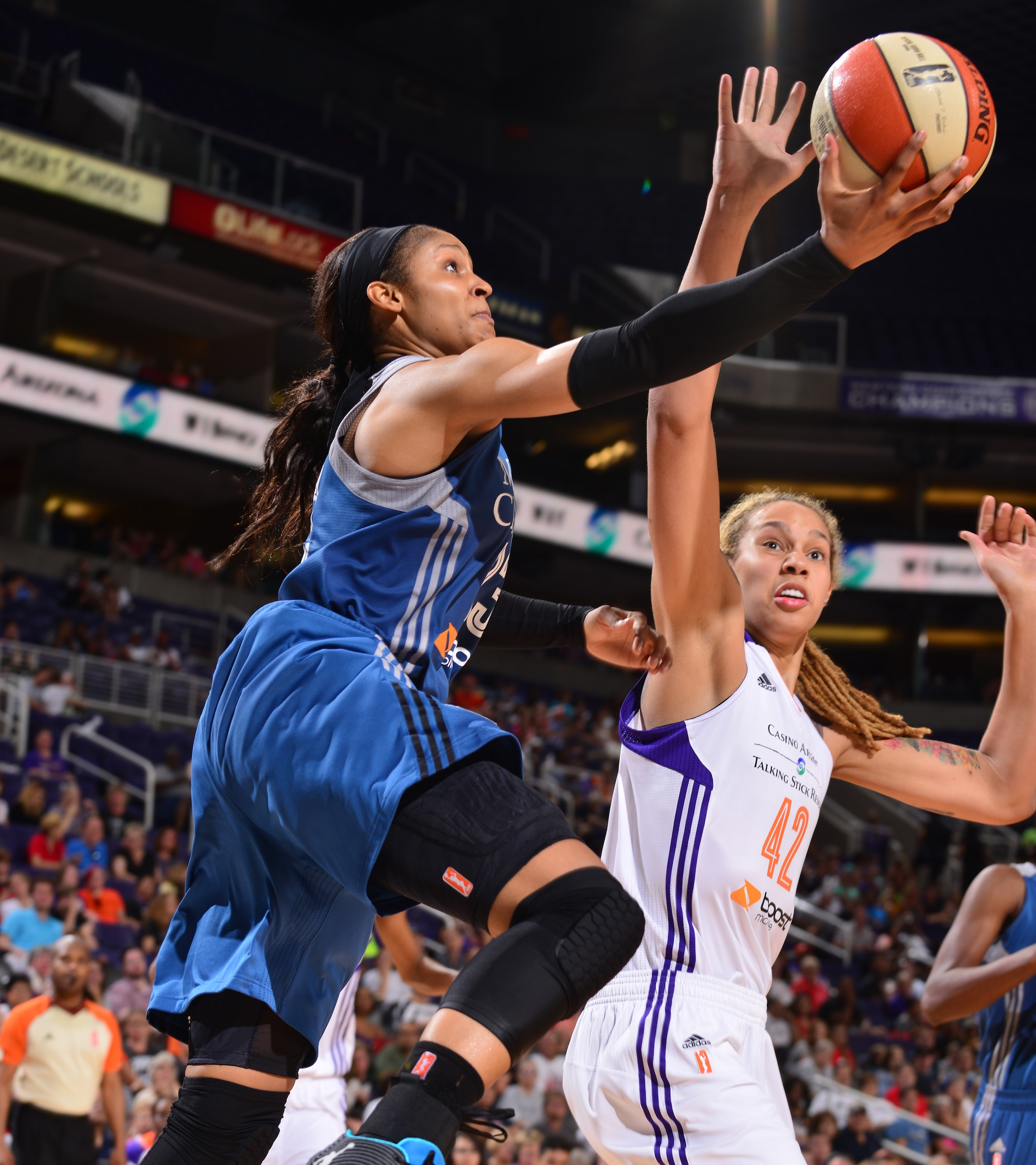 Lynx forward Maya Moore did her best to keep Minnesota in the game but struggled to find her shot, finishing with a team-high 17 points on 5-of-17 (29 percent) shooting. Moore also added four rebounds and two blocked shots in the loss.