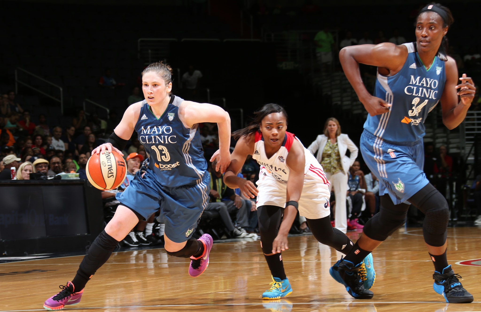 Lynx guard Lindsay Whalen had a great game against Washington, notching a double-double and finishing with 13 points, 10 rebounds and four assists in the loss.