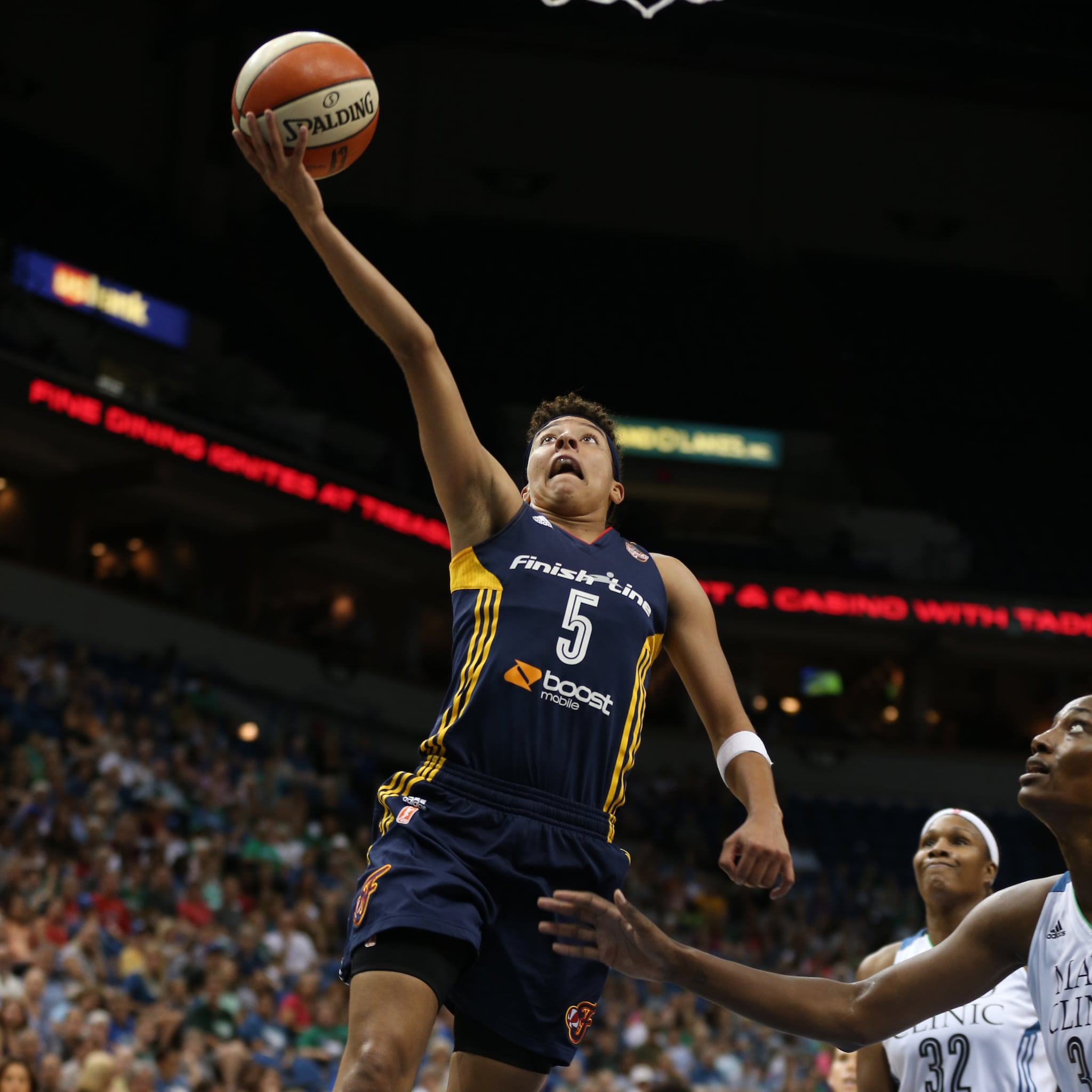 Fever guard Layshia Clarendon was held relatively quiet by Minnesota's frontcourt defense and finished with just nine points, three rebounds and three assists.
