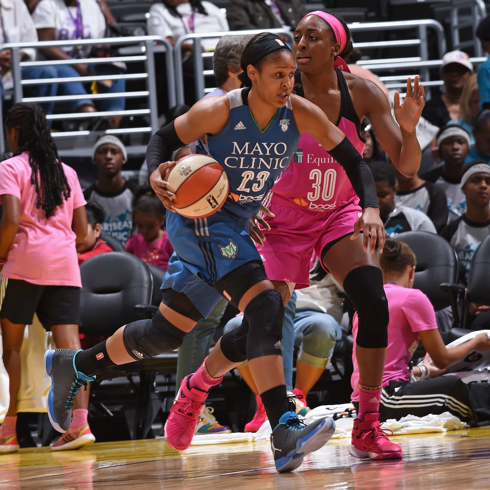 Lynx forward Maya Moore led her team into Los Angeles for the third meeting between these two teams this season. Unfortunately, the Lynx suffered their first loss of the season to the Sparks, falling 83-61. Moore finished tied for a team-high 13 points to go with her five rebounds and two blocked shots.