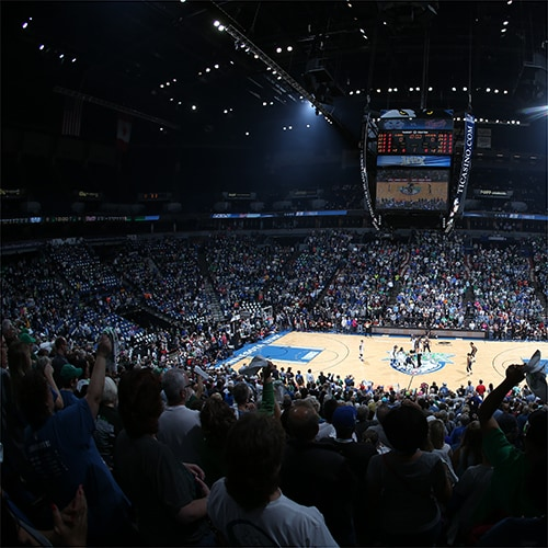MINNEAPOLIS, MN - OCTOBER 6:  A shot of the arena during Game Two of the 2015 WNBA Finals between the Indiana Fever and the Minnesota Lynx on October 6, 2015 at Target Center in Minneapolis, Minnesota.  NOTE TO USER: User expressly acknowledges and agrees that, by downloading and or using this Photograph, user is consenting to the terms and conditions of the Getty Images License Agreement. Mandatory Copyright Notice: Copyright 2015 NBAE (Photo by David Sherman/NBAE via Getty Images)
